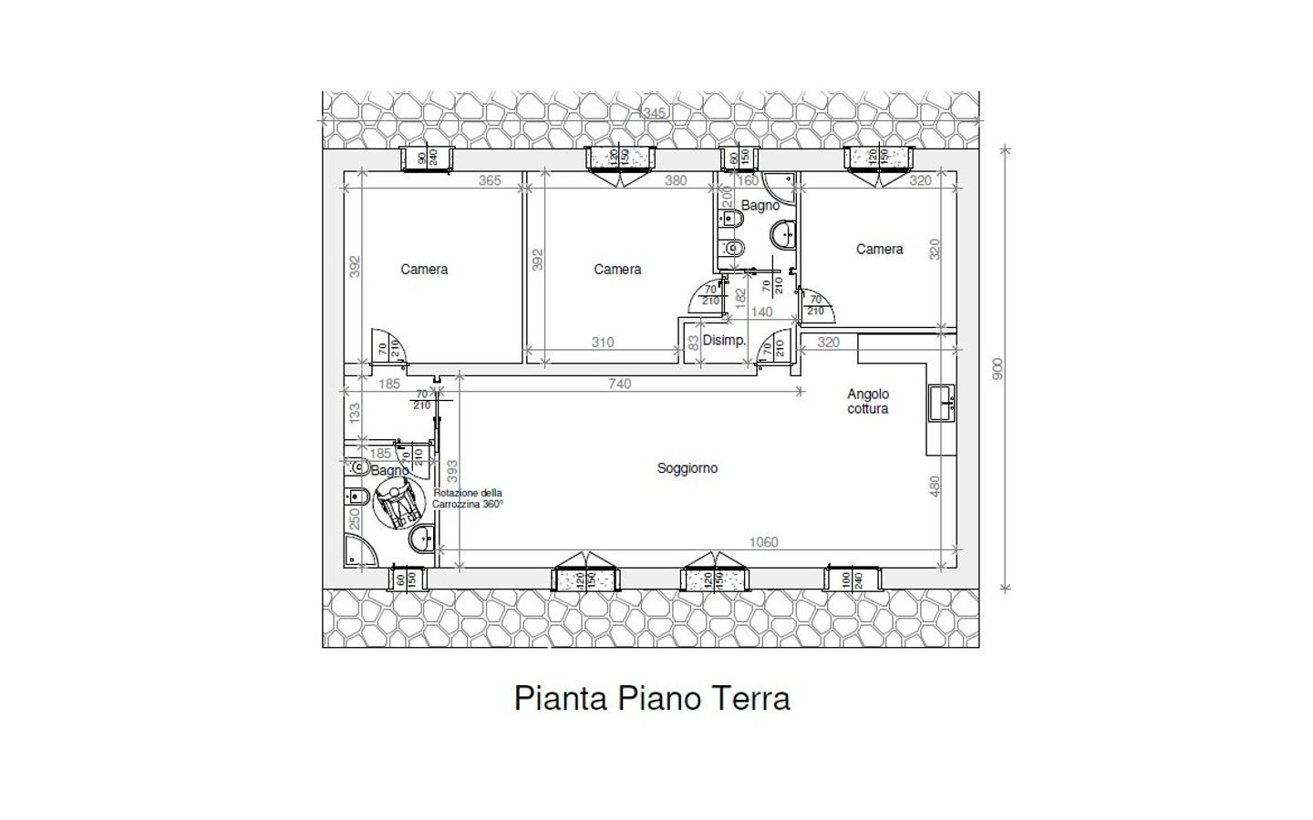 Licence to build a traditional Sardinia home in Aglientu